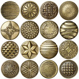Bronze buttons Royalty Free Stock Images
