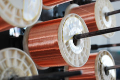 Bronze cable roller. Closeup in a factory Stock Photography