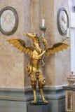 Dragon Candelabrum in St Mang Basilica in Fussen, Bavaria, Germa. Bronze Candelabrum in the Shape of a Dragon in the Saint Mang Basilica in Fussen, Bavaria Royalty Free Stock Image