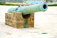 Bronze cannon in africa Stock Photos