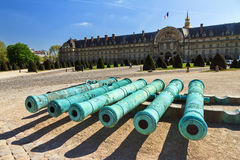 Bronze cannons Invalides Stock Images