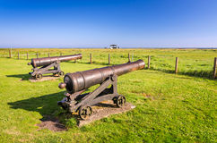 Bronze cannons on Oland island Royalty Free Stock Images