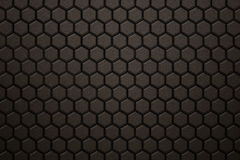 Bronze carbon fiber hexagon pattern. Background and texture. 3d illustration Stock Photography