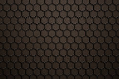 Bronze carbon fiber hexagon pattern. Background and texture. 3d illustration Stock Photo
