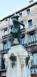 Bronze Carlo Goldoni statue, Venice, Italy Royalty Free Stock Images