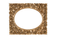 Bronze carved picture frame Stock Image