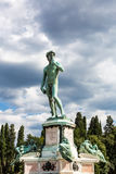 Bronze cast of David at the Piazzale Michelangelo in Florence, I Royalty Free Stock Image