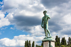 Bronze cast of David at the Piazzale Michelangelo in Florence, I Royalty Free Stock Photo