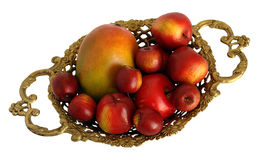 Bronze Centerpiece with fruit Stock Image