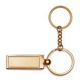 bronze chain key white för bakgrund Arkivfoton
