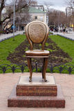 Bronze chair, Monument in Odessa Stock Photo