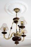 Bronze chandelier Stock Photo