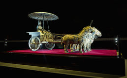 Bronze chariot of emperor in Xian terracotta army museum, 5 Febr Royalty Free Stock Photography