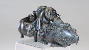 Bronze chinês antigo video estoque
