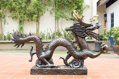 Bronze Chinese Dragon Statue Stock Photo