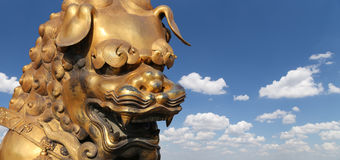 Bronze Chinese dragon statue in the Forbidden City. Beijing, China Stock Image