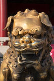 Bronze Chinese dragon statue in the Forbidden City. Beijing, China Stock Photo