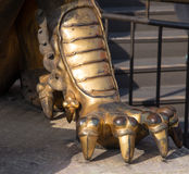 Bronze Chinese dragon statue in the Forbidden City. Beijing, China Royalty Free Stock Photo