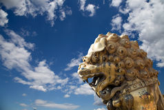 A bronze Chinese dragon statue in the Forbidden City. Beijing Stock Images
