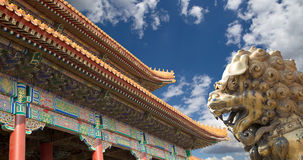 A bronze Chinese dragon statue in the Forbidden City. Beijing Stock Image