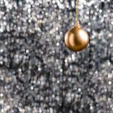 Bronze Christmas bauble Stock Photo