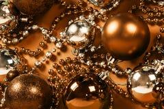 Bronze Christmas decoration Stock Photo