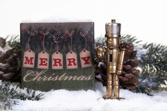 Bronze Christmas Nutcracker Stock Image
