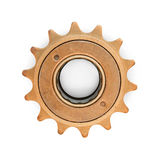 Bronze colored gear royalty free stock image