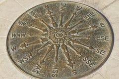 Bronze compass Stock Photography