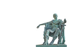 bronze constantine staty Arkivbilder