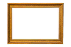 Bronze copper and Gold Frame vintage isolated on white backgroun Royalty Free Stock Photo