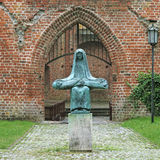 Bronze copy of Ernst Barlach`s sculpture The Pieta in Stralsund, Germany Royalty Free Stock Photos