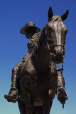 Bronze Cowboy Royalty Free Stock Photography