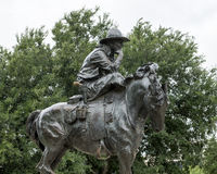 Bronze Cowboy on Horse Sculpture, Pioneer Plaza, Dallas Stock Photography