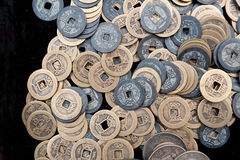 Bronze crafts, ancient Chinese coins Stock Photo