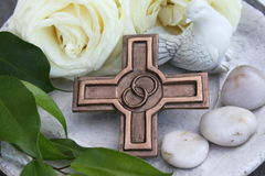 Bronze Cross Stock Photo