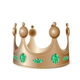 Bronze crown with gems. Isolated bronze crown with gems in photo realistic style - Vector illustration stock illustration