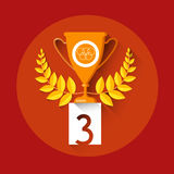 Bronze Cup Achievement Sport Icon Royalty Free Stock Photos
