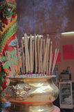 Bronze cup incense sticks Royalty Free Stock Photos