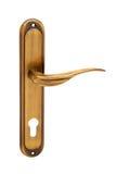 bronze dörrhandtag Fotografering för Bildbyråer