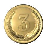 Bronze da medalha Fotos de Stock Royalty Free