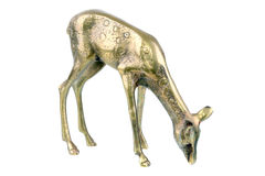 Bronze Deer Doe Stock Photo