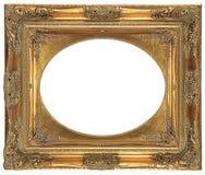 bronze den dekorativa ramen isolerade ovalen Royaltyfri Foto