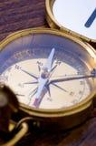 bronze den nautiska kompasset Arkivfoto