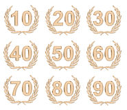 Bronze do aniversário Imagens de Stock