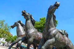 Bronze do grupo do cavalo por Bonifatius Stirnberg, Aix-la-Chapelle Fotografia de Stock