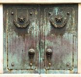 Bronze door. Chinese  grave of a revolutionary martyr's door Royalty Free Stock Photography