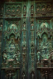 Bronze Door Duomo Cathedral Florence Italy Stock Images