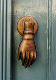 Bronze door handle Royalty Free Stock Image