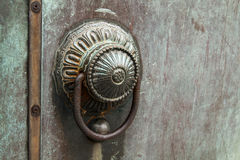 Bronze door handle. An old type bronze door handle Royalty Free Stock Image
